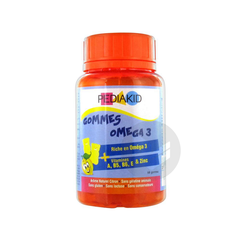 Gomme Ourson Omega 3 Citron Pilulier 60