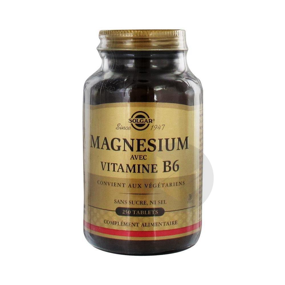 Magnesium Vitamine B 6 Tabl Pot 250