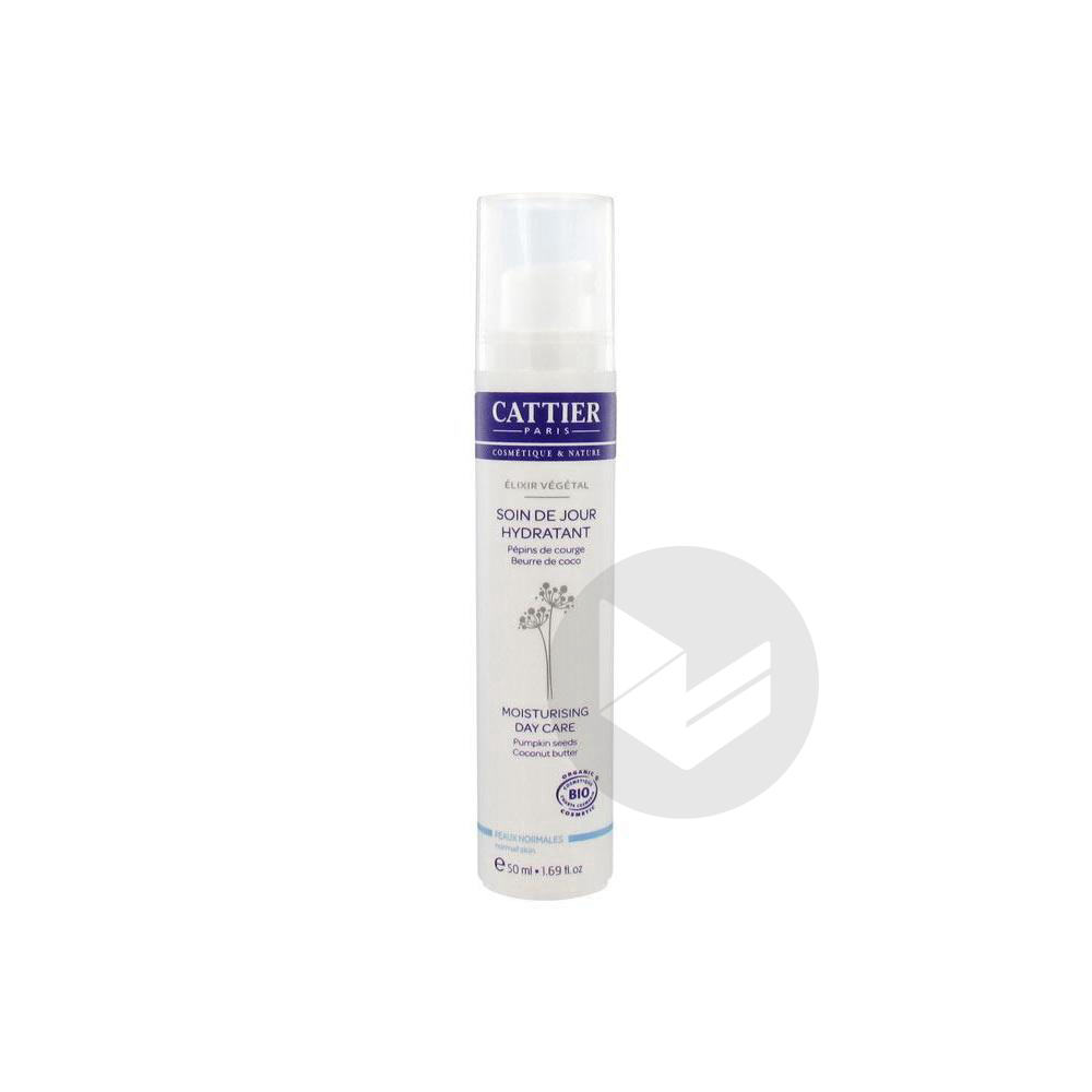 CATTIER ELIXIR VEGETAL Cr hydratante peau normale à mixte Fl airless/50ml
