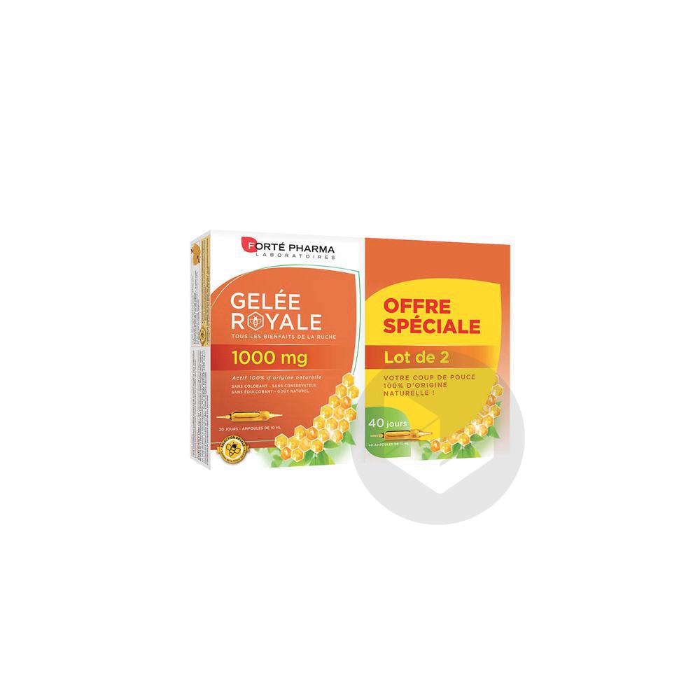Forte Pharma Gelee Royale 1000 Mg S Buv 2 B 20 Amp 10 Ml