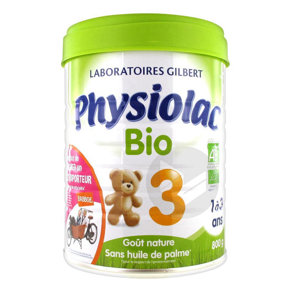 PHYSIOLAC BIO 3 CROISSANCE Lait pdre B/800g
