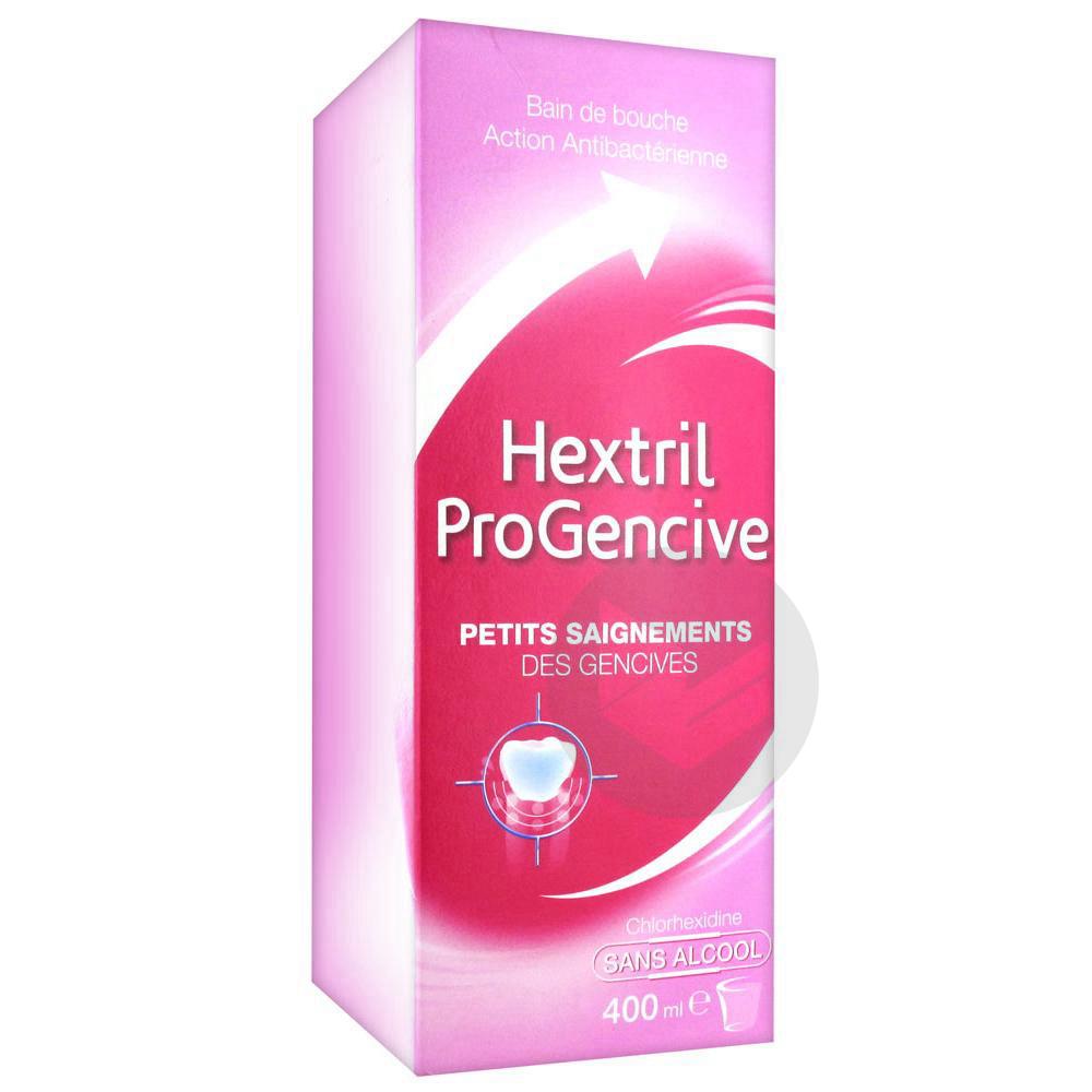 Hextril Progencive Bain de bouche sans alcool 400ml