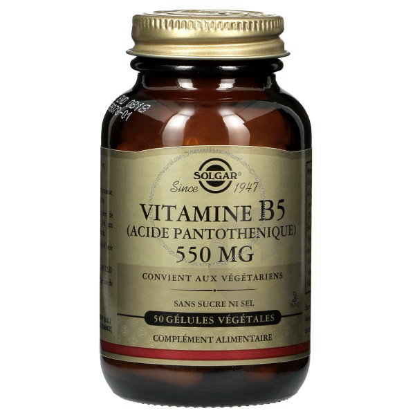 Vitamine B 5 Acide Pantothenique 50 Gelules