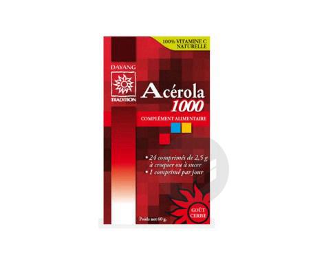 Acérola 1000 24 comprimés