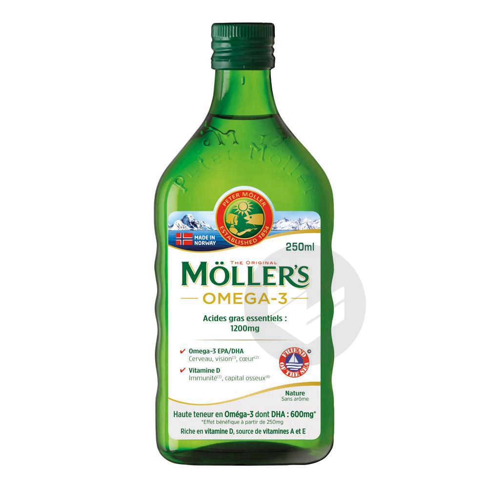 Möller's Omega 3 Huile de Foie de Morue Sans Arôme 250 ml