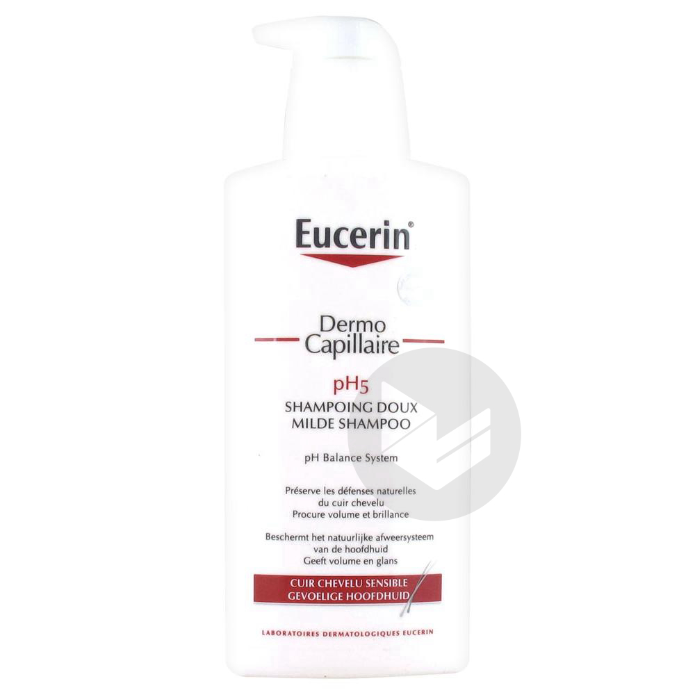 EUCERIN DERMO CAPILLAIRE Shampooing doux Fl pompe/400ml