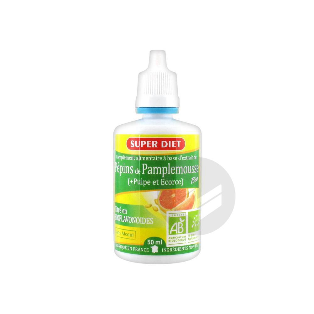 SUPERDIET Extrait de pépins de Pamplemousse Bio S buv Fl/50ml