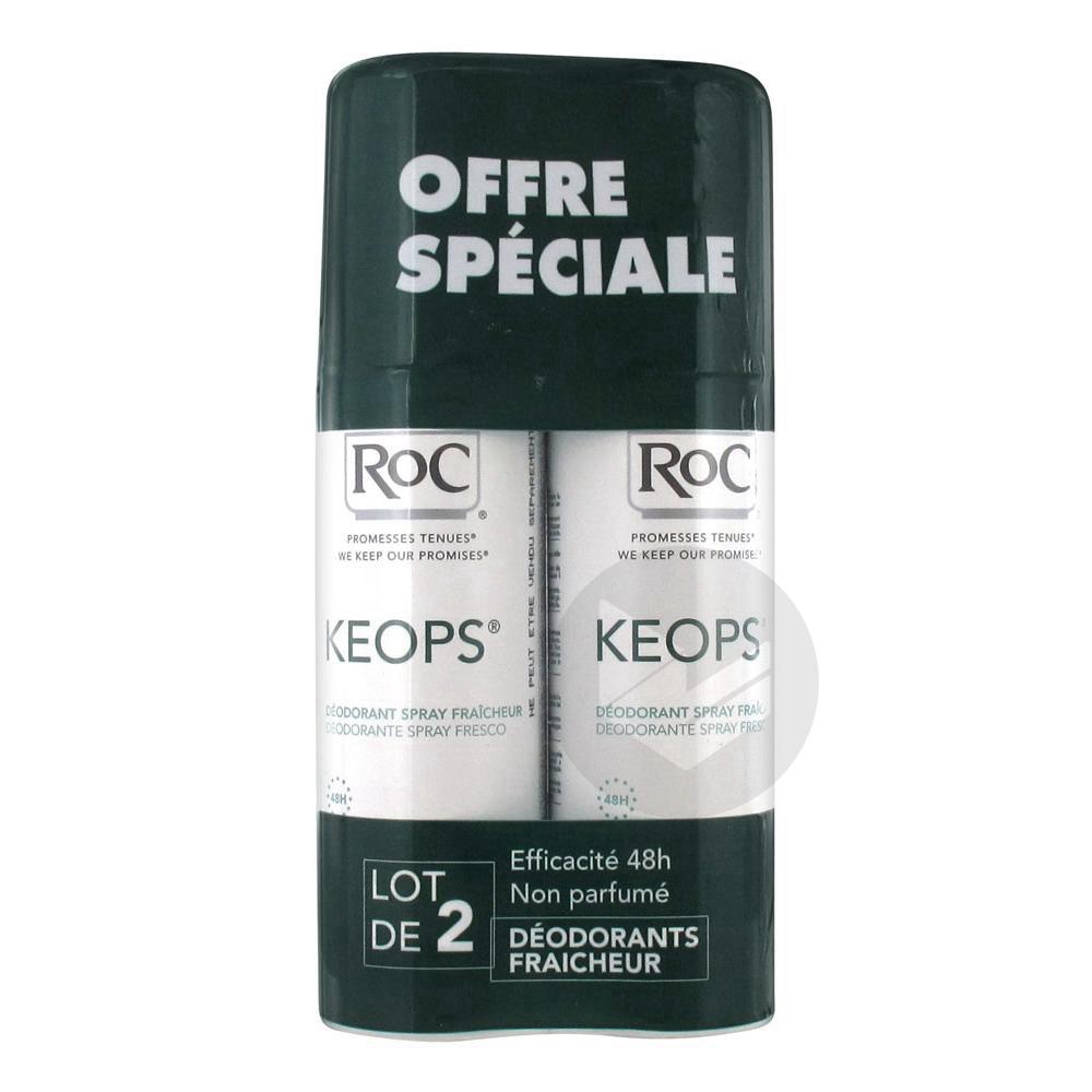 Ro C Keops Spray Deodorant Fraicheur Lot De 2 X 100 Ml