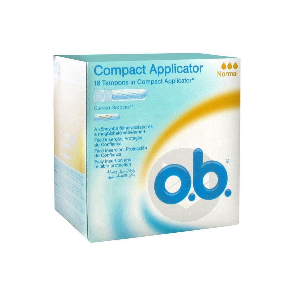 OB PRO COMFORT Tampon périodique normal avec applicateur B/16