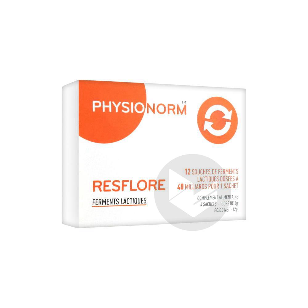 Physionorm Resflore Ferments Lactiques 4 Sachets