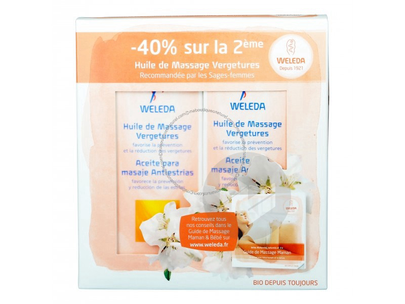 Maternite Huile De Massage Vergetures Lot De 2 X 100 Ml
