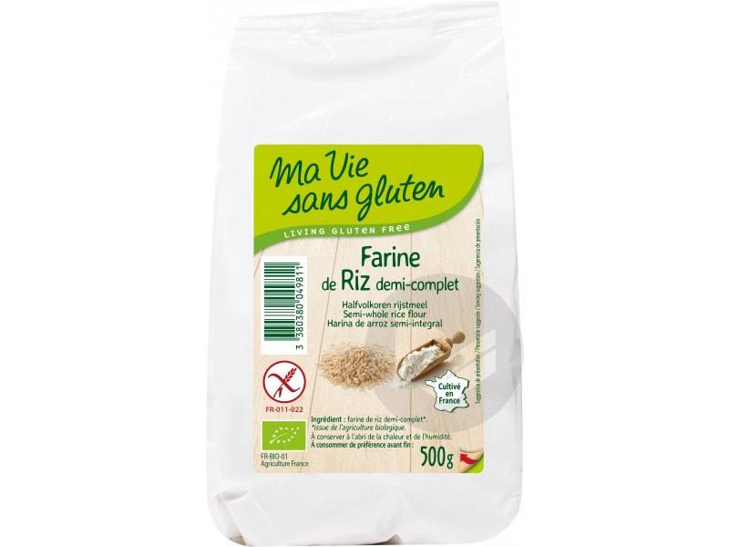 Farine de riz demi-complet Bio - 500 g