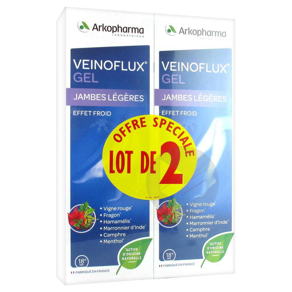 Veinoflux Gel Effet Froid Lot De 2 X 150 Ml