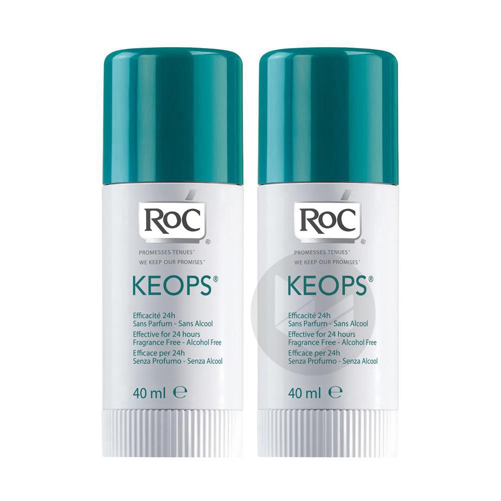 Keops Deodorant Sans Alcool 2 Sticks 40 Ml