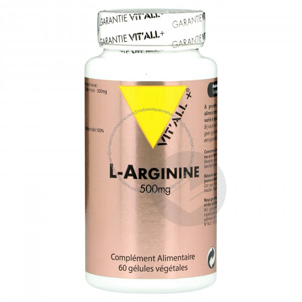 L-Arginine 500 mg - 60 Vcaps