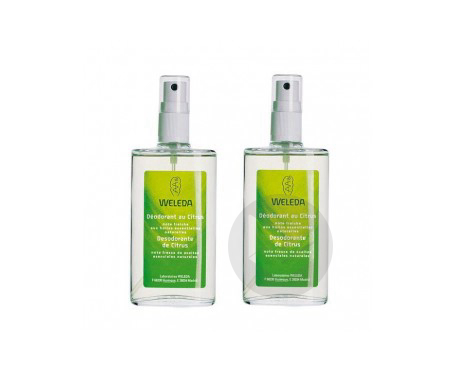 Deodorant Au Citrus Spray 100 Ml Lot De 2