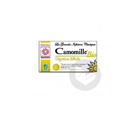 Infusion Camomille Bio Boite De 20 Sachets