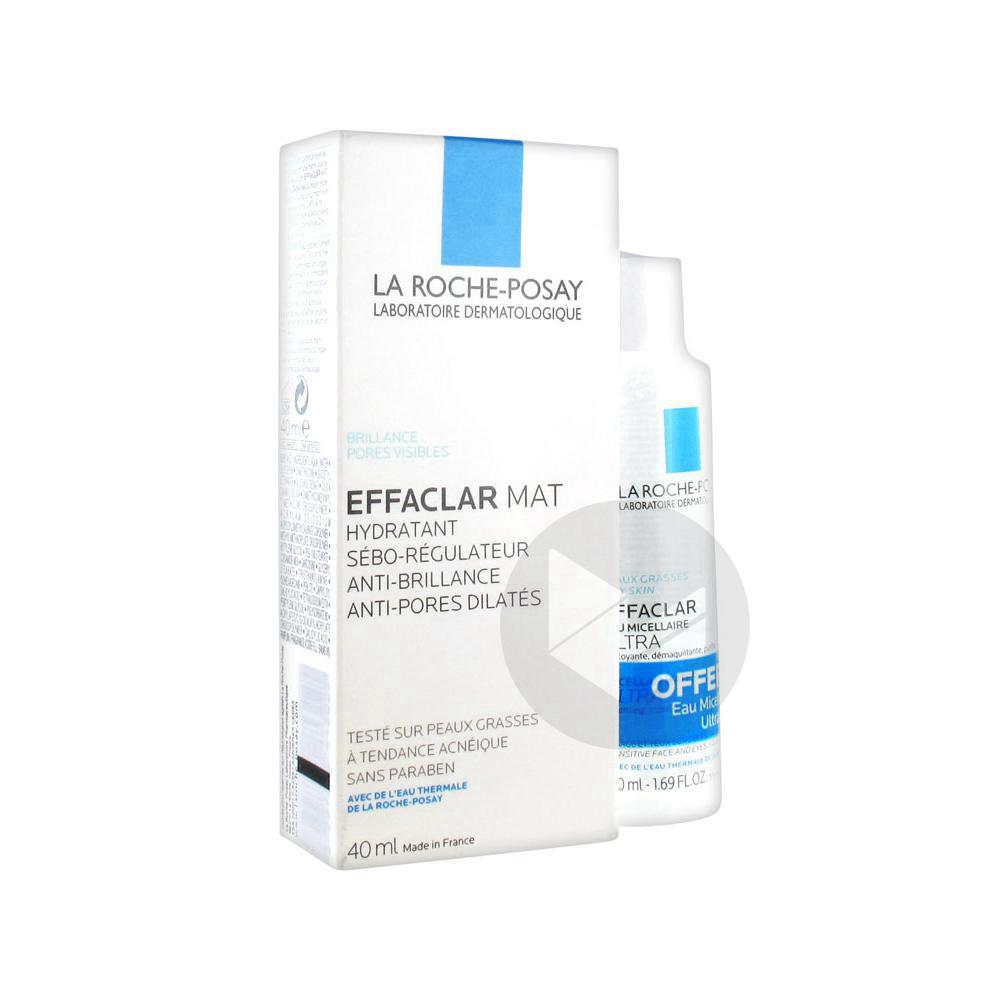 La Roche Posay Effaclar Mat Hydratant Seboregulateur 40 Ml Eau Micellaire 50 Ml Offerte