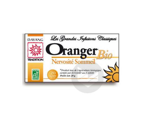 Infusion Oranger Bio 20 Sachets De 1 5 G