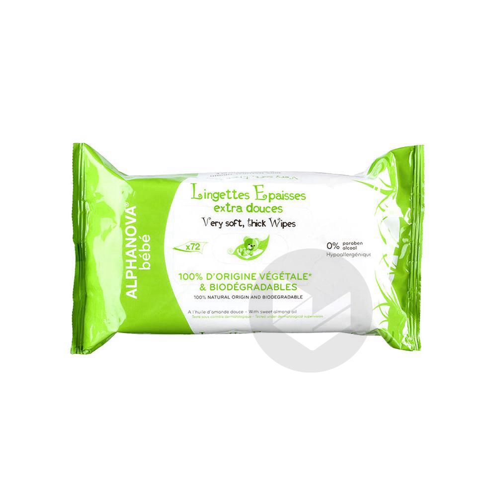 Bebe Bio Lingette Biodegradable Pack 72