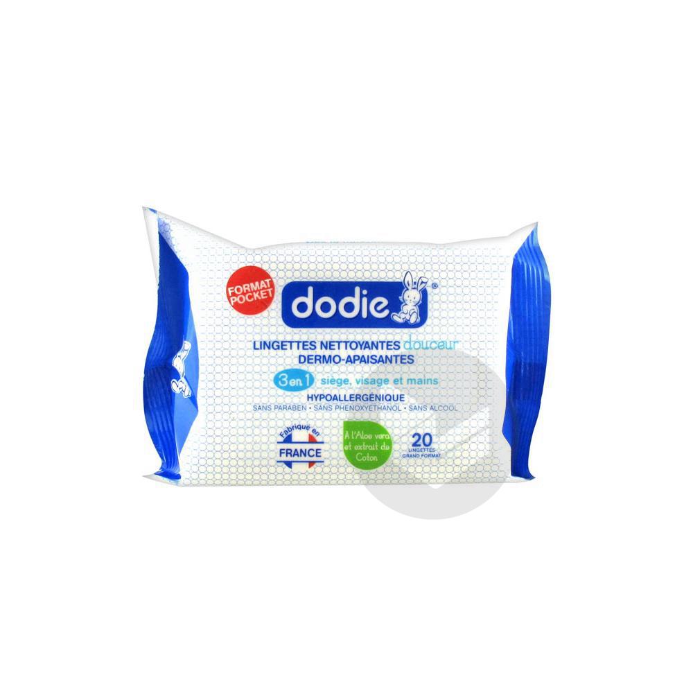 DODIE Lingette nettoyante 3 en 1 Pack/20