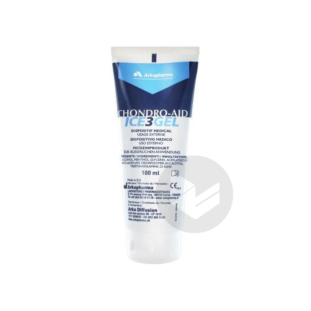 Chondro Aid Ice 3 Gel De Cryotherapie Antalgique T 100 Ml
