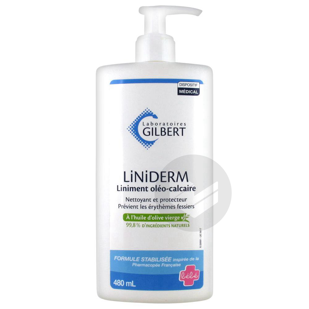 Liniderm Liniment Oleo Calcaire Flacon Pompe 480 Ml