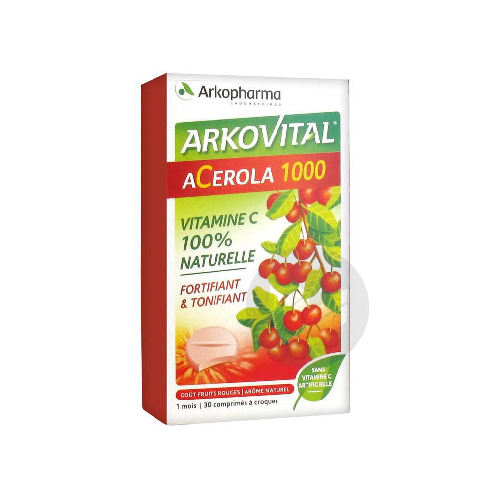 Arkopharma Arkovital Acerola 1000 30 Comprimés à Croquer