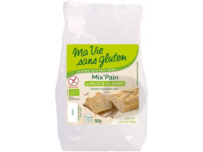 Préparation pain millet et graines Bio - 500 g
