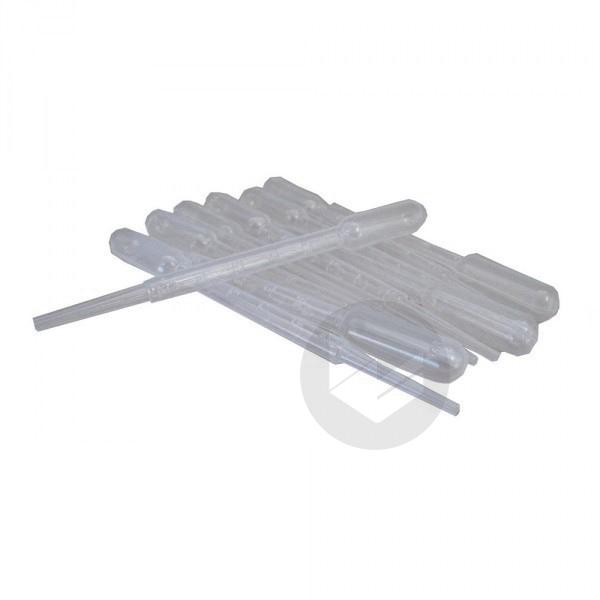 Pipettes Pasteur Plastiques (par 10) - 3 ml gradué e 0.5 ml