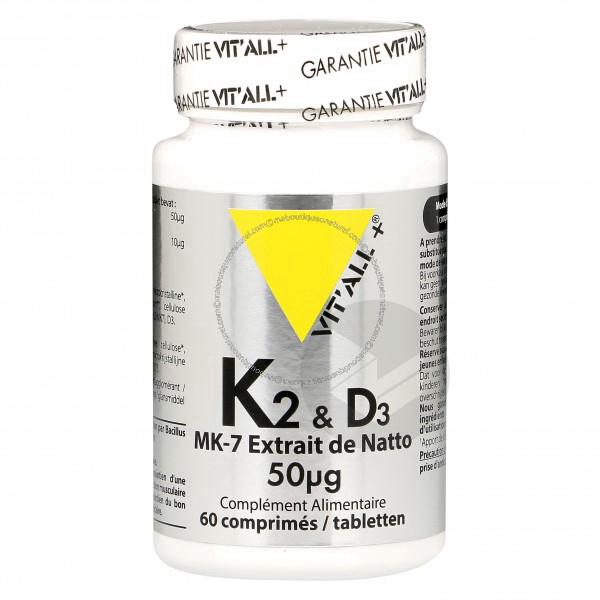 Vitamine K2-D3 - 60 comprimés