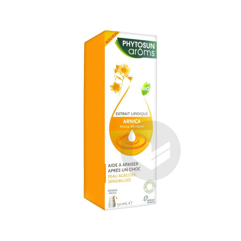 Phytosun Aroms Extrait Lipidique Arnica Bio Fl Pompe 50 Ml