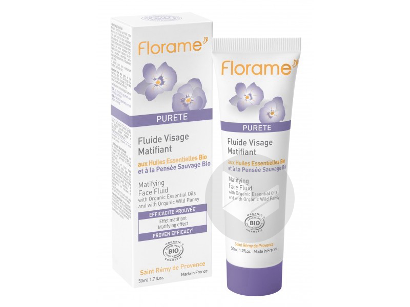 Fluide visage matifiant Bio - 50 ml