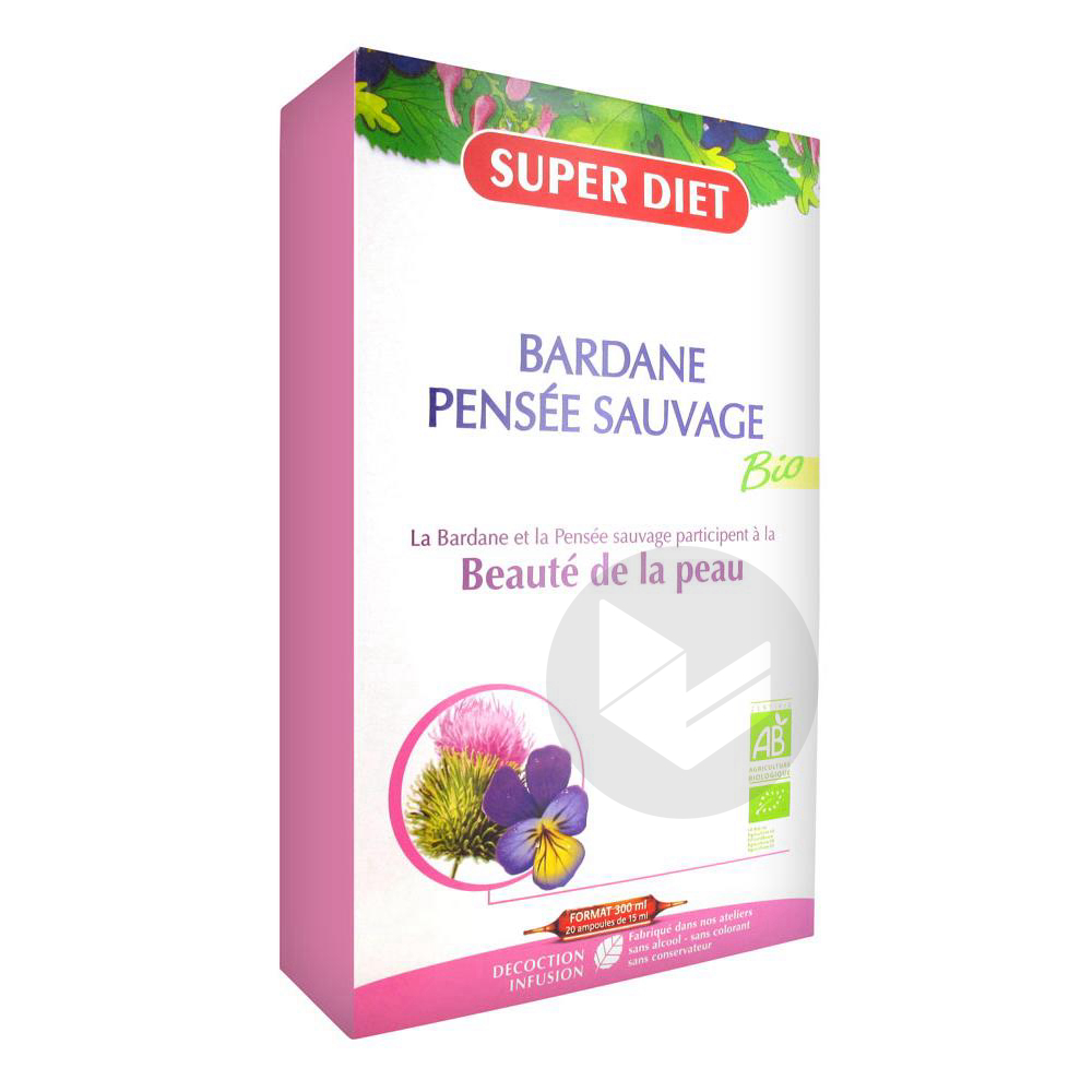 Bardane Pensee Sauvage Bio 20 Ampoules