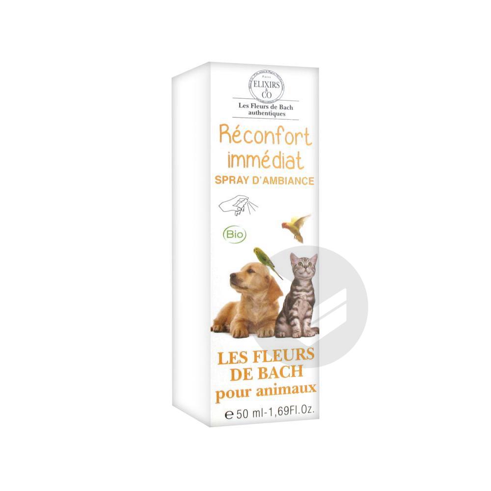 Elixirs & Co Spray d'Ambiance Réconfort Immédiat pour Animaux 50 ml