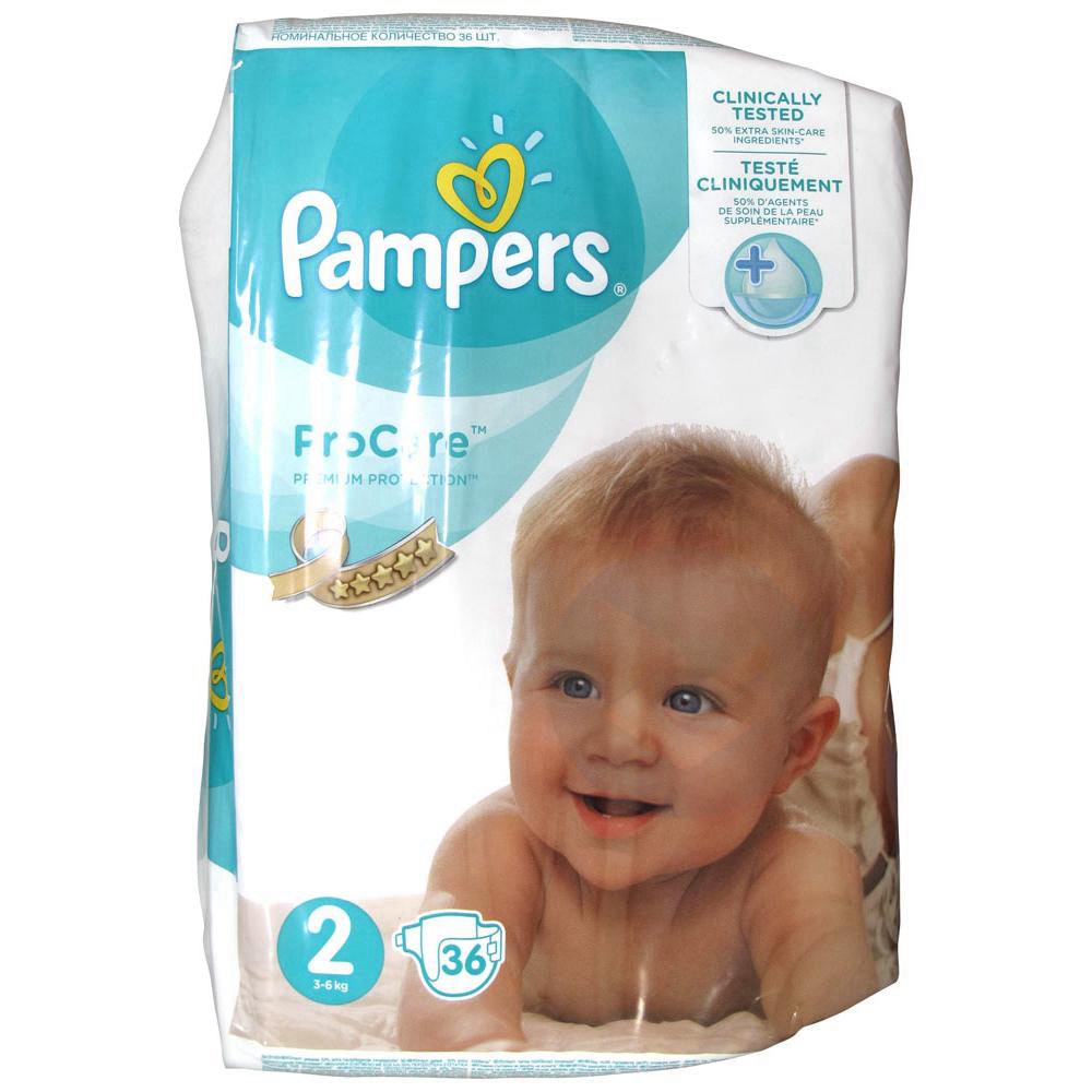 PAMPERS PROCARE PREMIUM Couche protection T2 3-6kg Paq/36