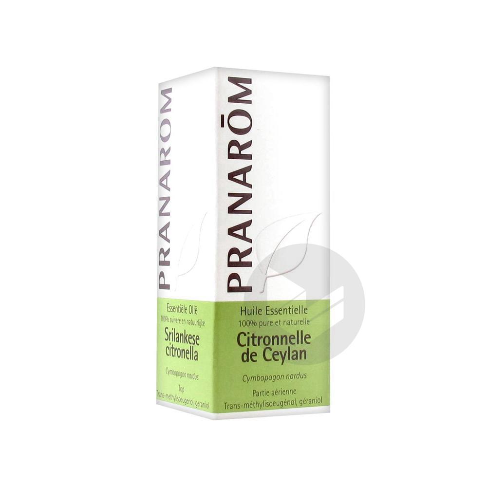 PRANAROM Huile essentielle Citronnelle de Ceylan Fl/10ml