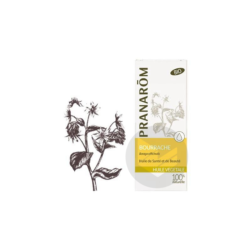 Huile Vegetale Bio Bourrache Fl 50 Ml