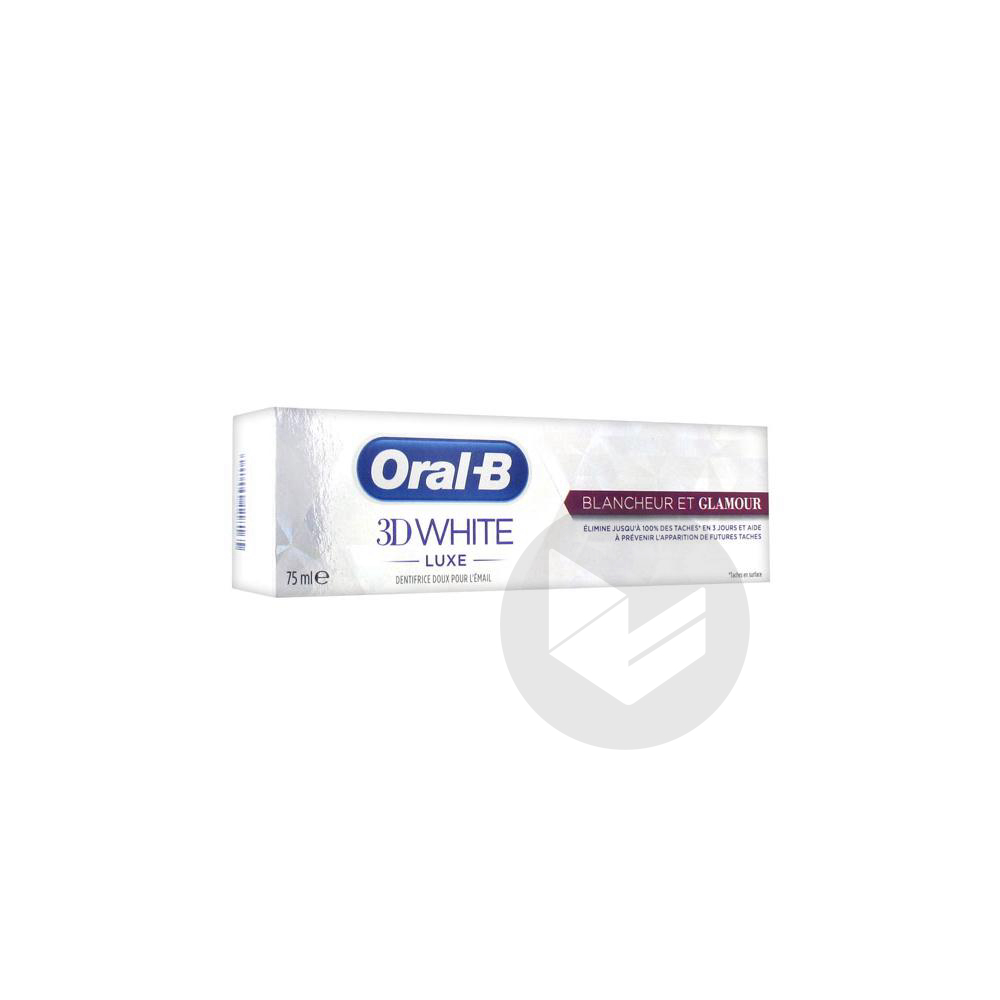 ORAL B 3D WHITE LUXE Dentifrice blancheur et glamour T/75ml