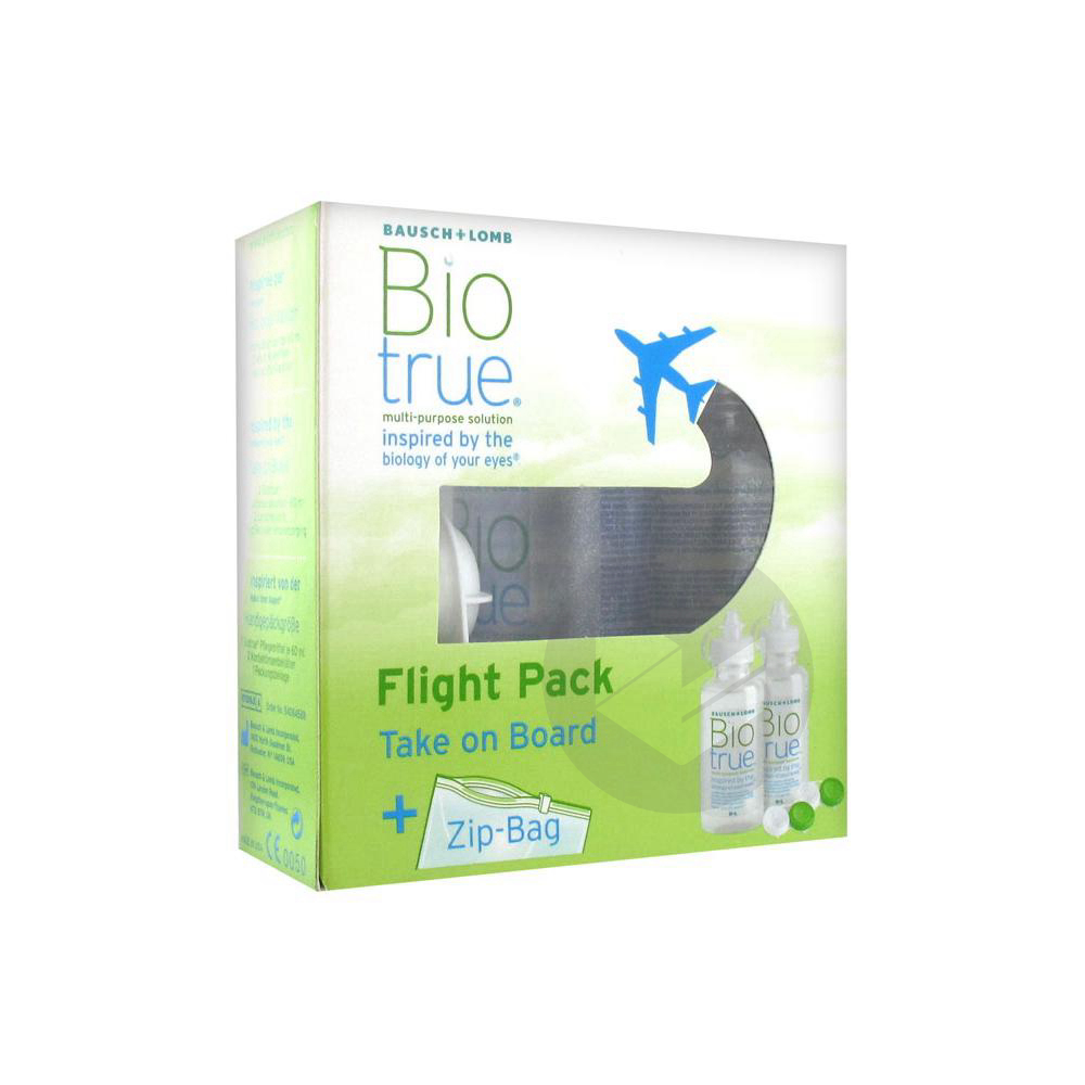 Biotrue Flight Pack S Lent 2 Fl 60 Ml Zip Bag