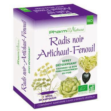 Radis Noir Artichaut Fenouil Bio 30 Ampoules