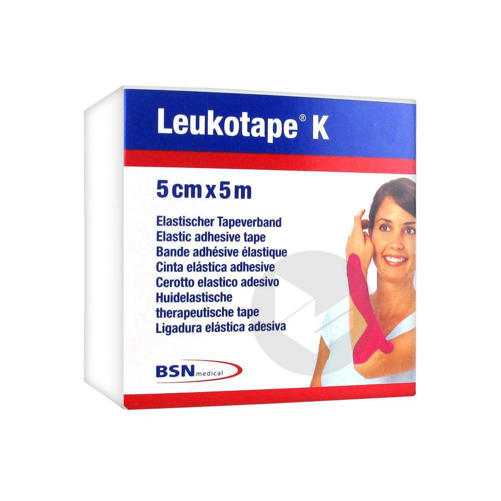 Leukotape K Bande Adhesive Elastique 5 Cm X 5 M