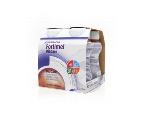 Fortimel Diacare Chocolat Bouteille 200 Ml Lot De 4