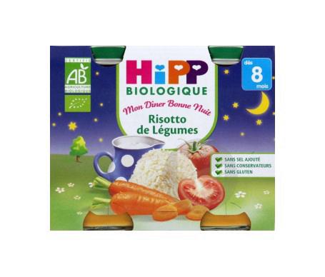 Mon Dîner Bonne Nuit Bio Risotto de Légumes 2 x 190g