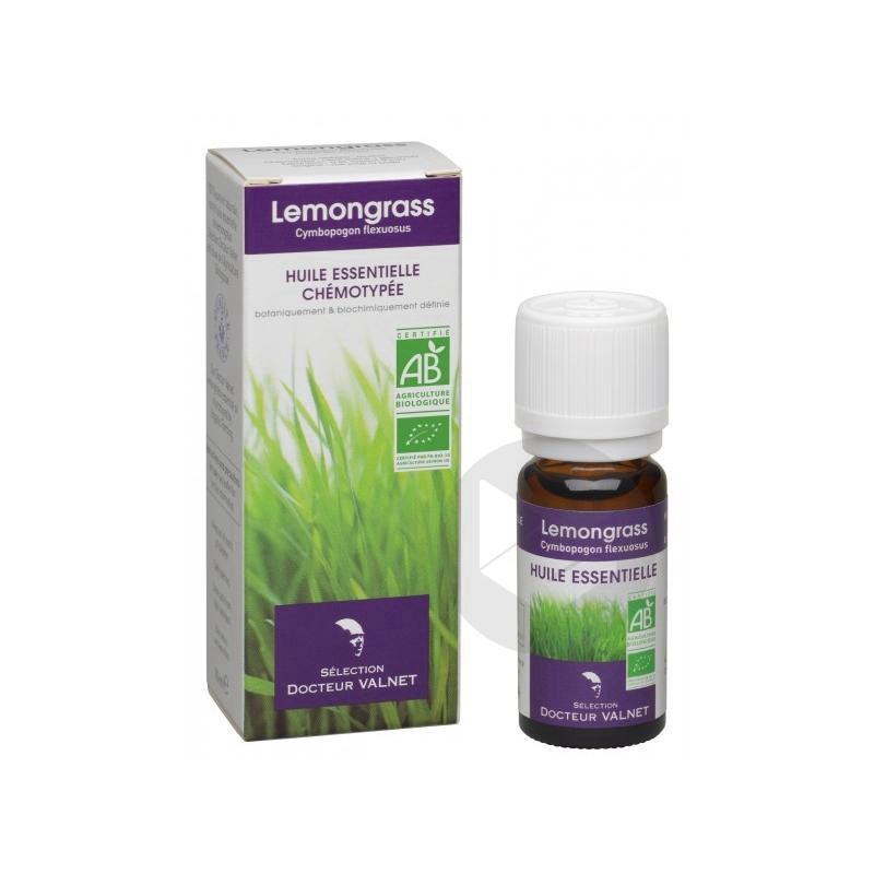 Huile Essentielle Bio Lemongrass Fl 10 Ml