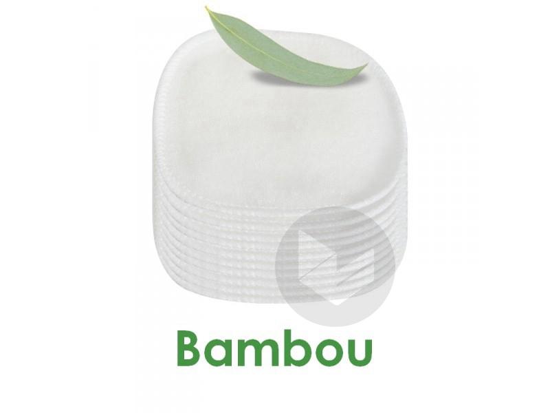 Lot 10 carrés démaquillants lavables Bambou