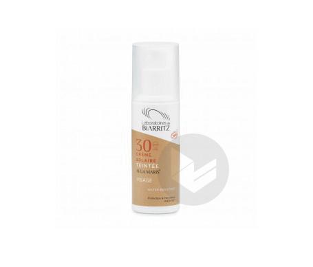 Crème solaire visage teintée claire SPF30 certifiée bio 50ml