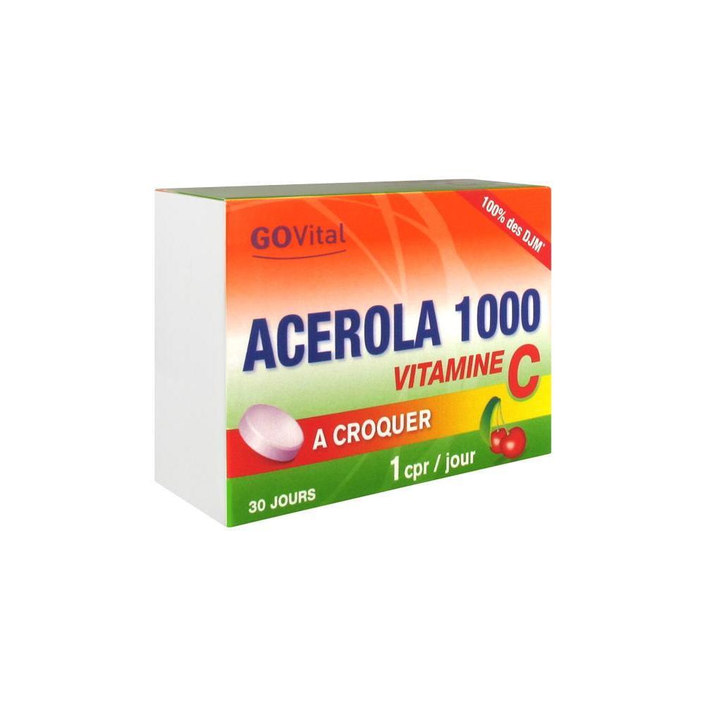 GOVITAL Acérola 1000 Cpr à croquer B/30