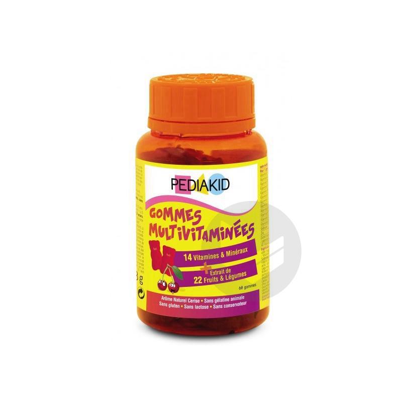 Gomme Ourson Multivitaminee Orange Cerise Pilulier 60