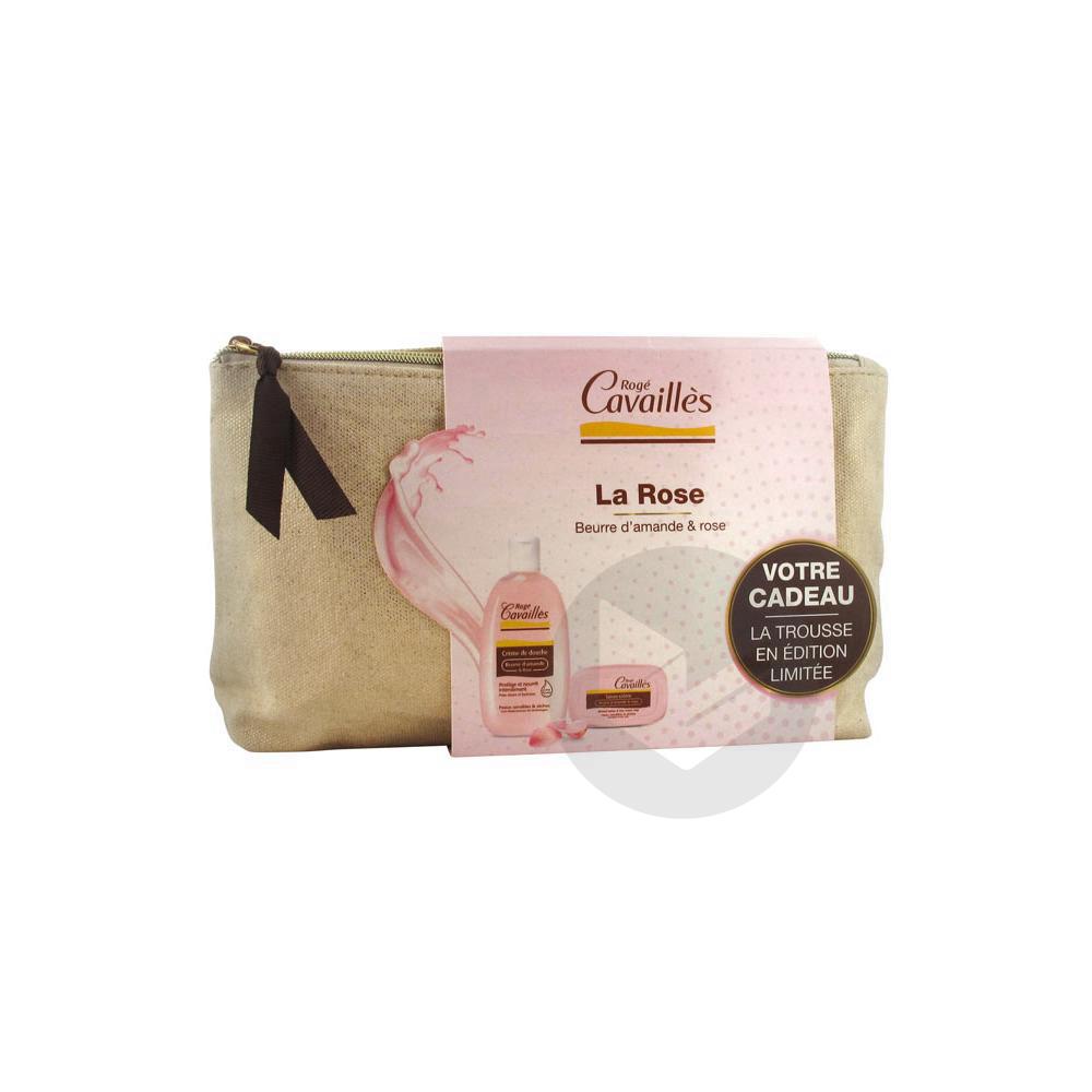 Rogé Cavaillès Trousse Crème de Douche Beurre d'Amande et Rose 250 ml + Savon 115 g